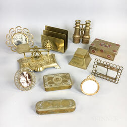 Eleven Brass Desk Accessories