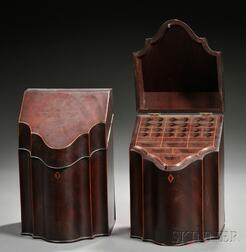 Pair of George III Style Mahogany Cutlery Boxes