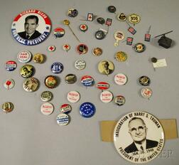 Group of 19th and 20th Century Mostly Pinback Buttons and Collectibles