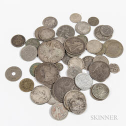 Small Group of World Mostly Silver Coins