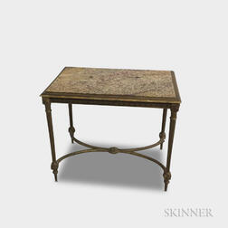 Louis XVI-style Molded and Gilt Composite Table