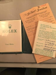 Rolex Oyster Perpetual Reference 1002 Wristwatch with Box and Papers