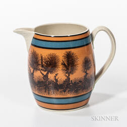 Don Carpentier Mocha- and Slip-decorated Jug