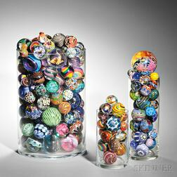 Contemporary Marbles and Paperweights: Approximately 339 Items