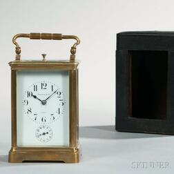 Couaillet Freres Hour-repeating Carriage Clock for Tiffany