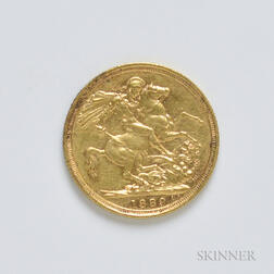 1889-S British Gold Sovereign.     Estimate $200-300
