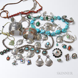 Group of Southwestern and Mexican Jewelry