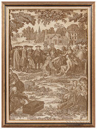William Penn's Treaty with the Indians Printed Textile