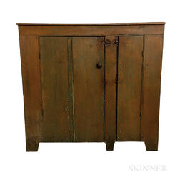 Country Blue-painted Pine Cupboard