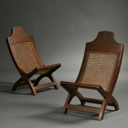 Pair of Hardwood Campeche Chairs