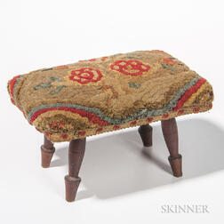 Stool with Hooked Floral Top