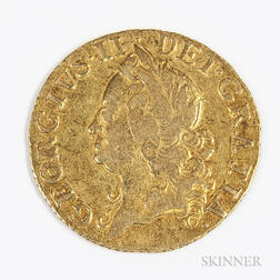 1751 British Gold Half Guinea