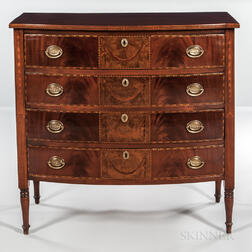 Inlaid Mahogany Chest of Four Drawers