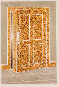 Rodney Hubback (British, b. 1940)      Foliate Door