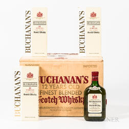 Buchanan's 12 Years Old, 11 4/5 quart bottles (oc) Spirits cannot be shipped. Please see http://bit.ly/sk-spirits for more info.