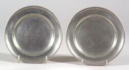 Two Small Pewter Plates