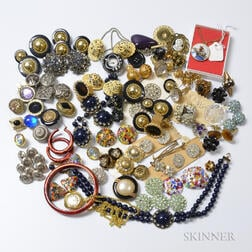Large Group of Costume Jewelry and Accessories
