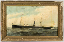 Antonio Nicolo Gasparo Jacobsen (Danish/American, 1850-1921)      Portrait of the Steamship New York