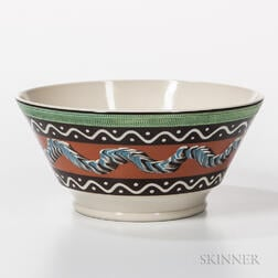 Large Don Carpentier Slip-decorated Bowl