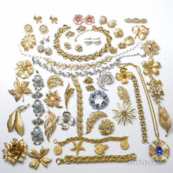 Approximately Thirty Pieces of Trifari Costume Jewelry