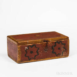 Red- and Yellow-painted Box