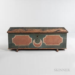 Paint-decorated Pine Six-board Chest