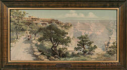 After Louis Akin (American)       El Tovar [Hotel] Grand Canyon Arizona on the Santa Fe