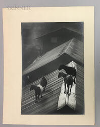 W. Eugene Smith (American, 1918-1978)      Untitled (Goats on a Roof)