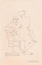 Attributed to André Lhote (French, 1885-1962)    Two Drawings: Le matelot, sous sa chemise...