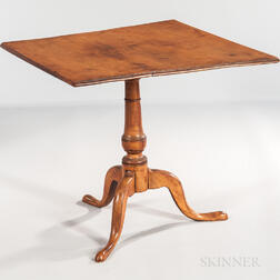 Tiger Maple Tilt-top Tea Table