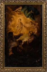Italian School, 17th Century Style      The Infant Christ Appearing to Franciscan Friars