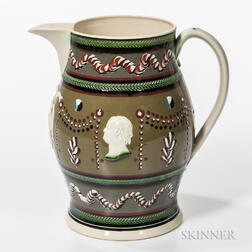 Large Don Carpentier Slip-decorated Pitcher