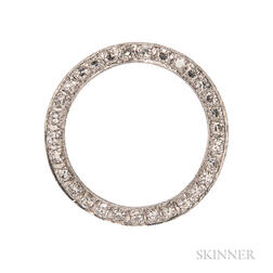 Diamond Circle Brooch