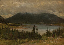 John Joseph Enneking (American, 1841-1916)      Brown Mountain, Somes Sound, S.W. Harbour