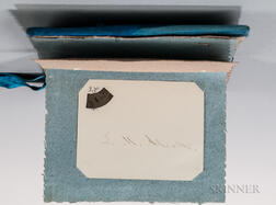 Autograph Album, Late 19th Century, with Signatures of Louisa May Alcott, Henry Wadsworth Longfellow, and Others.