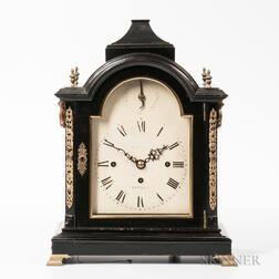 English Quarter-chiming Ebonized Bracket Clock