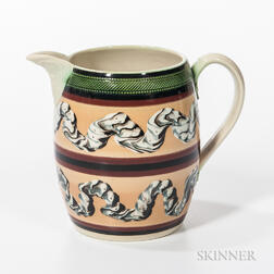 Don Carpentier Slip- and Earthworm-decorated Jug
