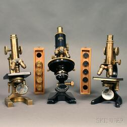 Three German Compound Microscopes