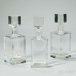 Set of Three Decanters