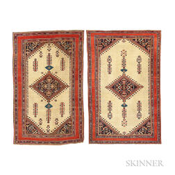Pair of Antique Fereghan Rugs