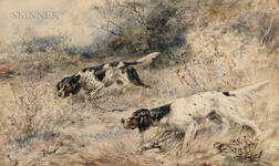 Edmund Henry Osthaus (American, 1858-1928)      Two Bird Dogs