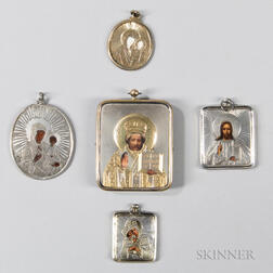 Five Small Russian Icons