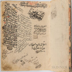 Arabic Manuscript on Paper, a Collection of Texts in the Hadith Tradition,   1098 AH [1686 CE].