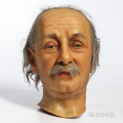 Einstein, Albert (1879-1955) Wax Head by Katherine Marie Stubergh-Keller (1911-1996) Signature attributed to Einstein.