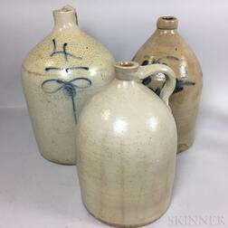 Three Large Stoneware Jugs