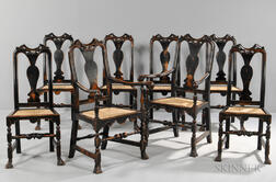 Benchmade Set of Eight John Gaines-style Dining Chairs