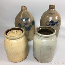 Four Stoneware Vessels