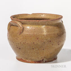 Small Glazed Redware Pot