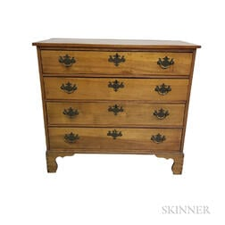 Queen Anne Maple Chest of Drawers