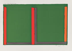 John Hoyland (British, 1934-2011)      Large Green Swiss